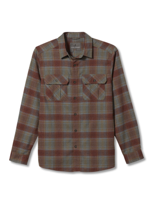 ROYAL ROBBINS Koszula męska LOST COAST FLANNEL PLAID L/S Red Rock-XXL