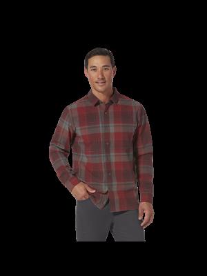 ROYAL ROBBINS Koszula męska TROUVAILLE ORGANIC COTTON PLAID L/S Red Rock