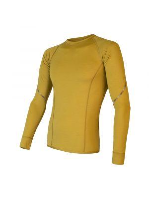 SENSOR Koszulka męska MERINO AIR TEE LS mustard